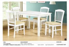 1+ 4 Wooden dining set (CC-61122)22/06