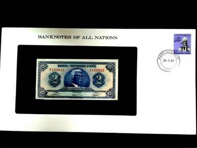Haiti 2 Gourdes UNC Franklin Mint Banknote F155023