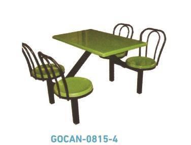 F&B Canteen Cafeteria Fibreglass Table & Seat Set