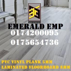 Lantai kayu 8mm pvc vinyl 3mm korean