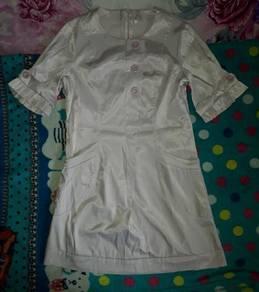 Cream colour Button Fashion Dress