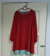 Red Double Layer Blouse