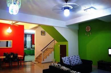 Villa Idaman 4bilik Aircond, Homestay Baru semi-D