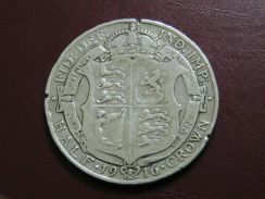 Half Crown Silver Coin - George V (1916)