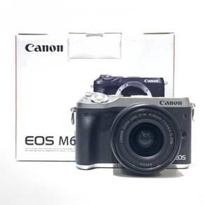 Canon EOS M6 +15-45mm Lens +Bag 99%, wty 08/2020