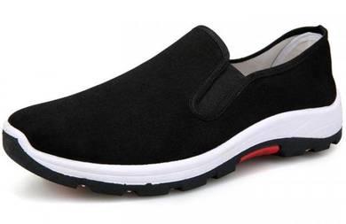 FA0267 Black Slip On Sneakers Wear Hiking Shoes