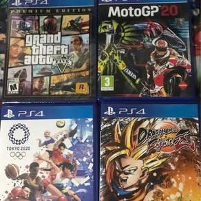 PS4 Motogp 20, Olympic, Dragon Ball, GTA V