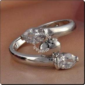 ABRWG-W010 Cute 9K White Gold Filled CZ Women Ring