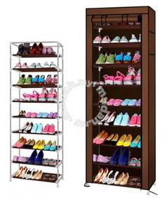 10 Tier Shoe Rack with Dust Cover