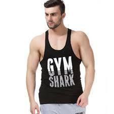 Gym Shark White Wording fit gym singlet