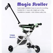 Magic Stroller Full LED Wheel ( Blue, Black, Pink