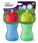 Philips Avent My Bendy Straw Cup 10oz (Blue/Green)