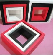IDFSH005 3PCS Square Wall Shelf