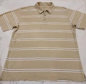 Baju t-shirt collar belang High Sierra saiz L