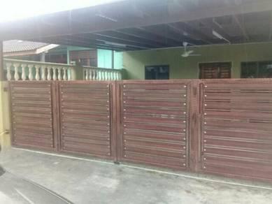 Tempahan gril gate awning poli