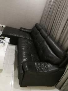 Used 10ft half leather sofa