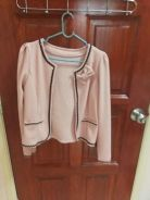 Pink cardigan with ribbon