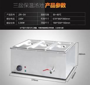 Food warmer - 3 tray