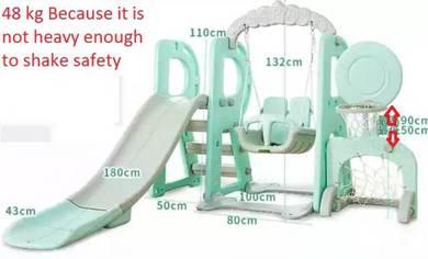 Children's set slides, swings, basketball, footbal