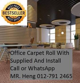 Classic Plain Design Carpet Roll with Install n654