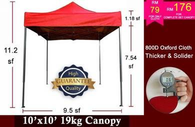 10x10 800D Thicken Canopy Khemah Tent Kanopi