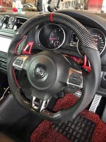 VW Steering Carbon Fiber Golf Mk5 Mk6 Mk7 Scirocco