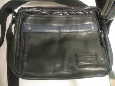 Genuine leather rav messenger bag