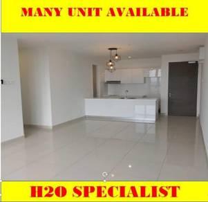 H2O residence, 1000sqf, 4room , P/Furnish, 2 carpark, Ara Damansara
