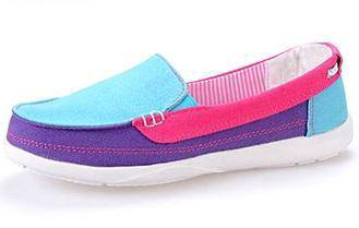 F0252 Funky Colorful Loafers Slip On Kasut Shoes