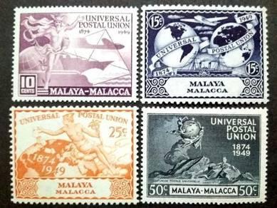 Malaya 1949 Malacca Universal Postal Union MLH #2