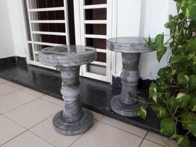 Marble stone round stool