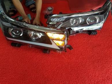 Toyota altis light bar led projector head lamp