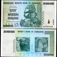 Zimbabwe 50 million dollars 2008 P 79 unc