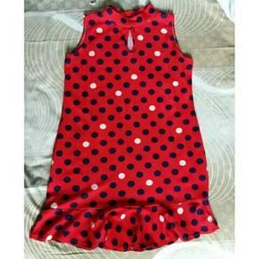 Polka Dots Red Short Dress