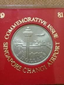 119 duit syiling 5 dollar singapore coin 1981