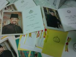 Sultan brunei raya cards collection - Rare