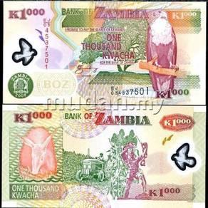 Zambia 1,000 kwacha p new polymer unc
