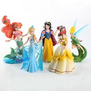 Princess PVC Figure Collection Cake Topper (5Pcs)
