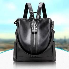 Black PU Bagpack