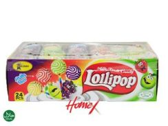 Alibaba Milk Fruit Candy Lollipop (24 pcs)