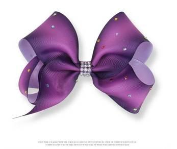 Jojo Siwa Ribbon Hair Bow with Rhinestone