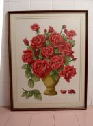 HUGE Vintage Cross-Stitch Picture - 36 x 29 inches