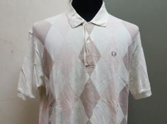 (S)FRED PERRY Diamond Polo shirt- L
