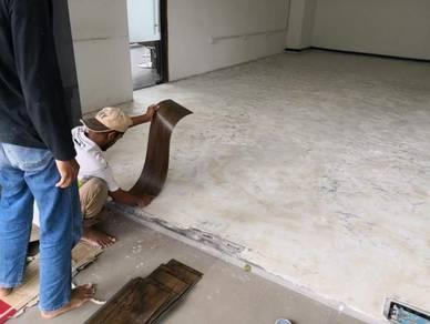 Vinyl Floor Lantai Timber Laminate PVC Floor Q279