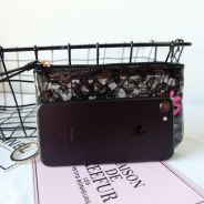 Victoria's Secret Black Lace Mini Wrislet Purse