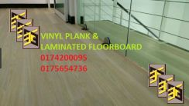 Lantai Vinyl Floorboard Laminated Kedah Utara A8
