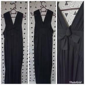Long Black Dress (style offshoulder pun boleh)