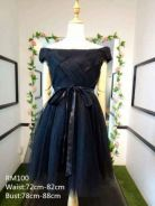 Black short gown