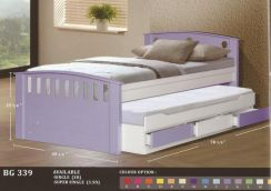 Wooden Children bed-8339