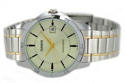 Casio Men Stainless Steel Date Watch MTP-V004SG-9A